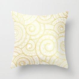 Gold Nagual | Tribal pattern Throw Pillow