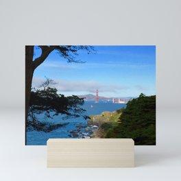 Golden Gate Bridge San Fran Mini Art Print