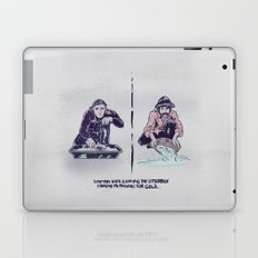 Planning for gold in the litter box Laptop & iPad Skin