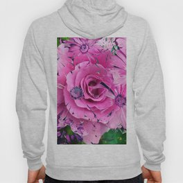 504 - Abstract Flower Design Hoody