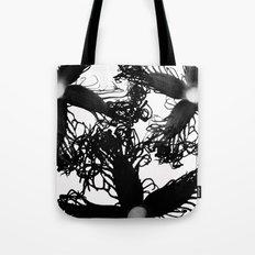 Three Black Flowers Tote Bag