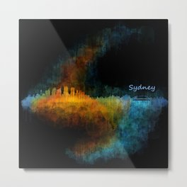 Sydney City Skyline Hq v4 Metal Print