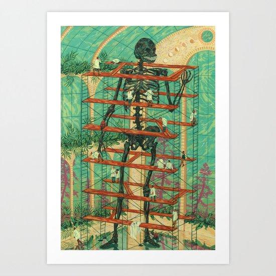 Rebuilding the Dead Art Print