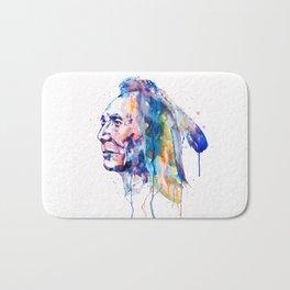 Sioux Warrior Watercolor Bath Mat