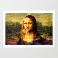 da vinci Art Prints featuring The Da Vinci Code by  Agostino Lo Coco