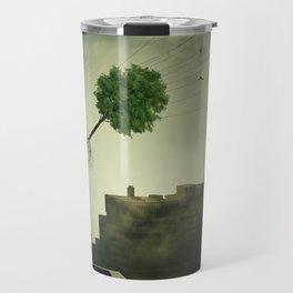 Greening of the foggy town Travel Mug