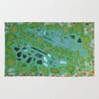 mosaic Area & Throw Rugs featuring Mosaic  by KunstFabrik_StaticMovement Manu Jobst