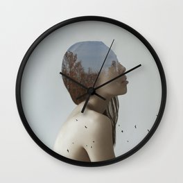 Being in nature Wall Clock