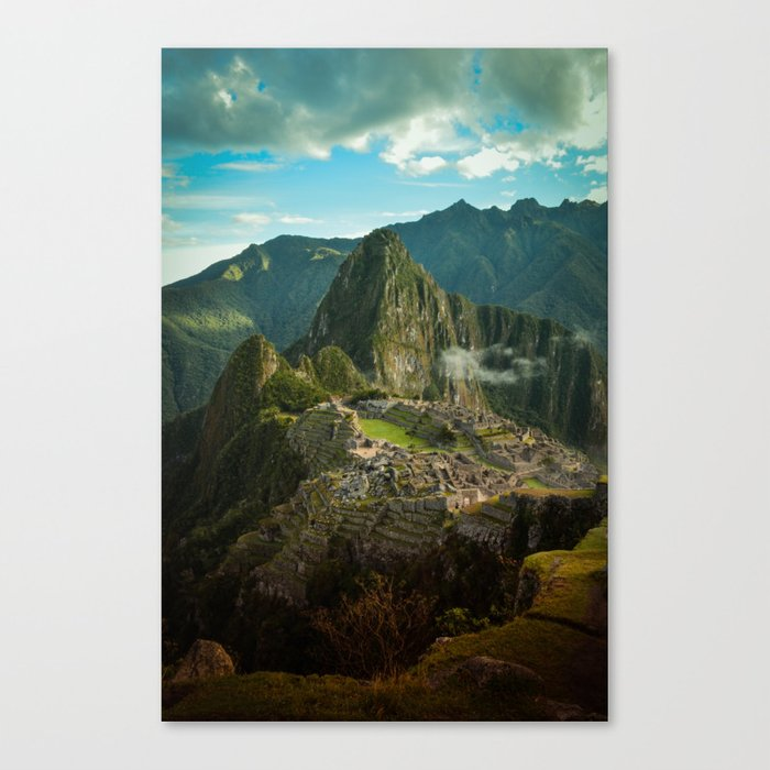 Machu Picchu (color) Canvas Print