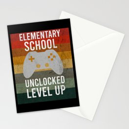 Elementary School Controller Level Up Stationery Cards