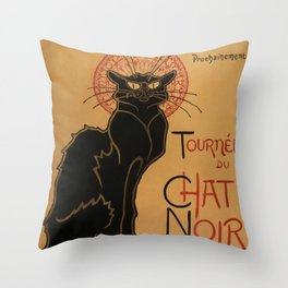 Le Chat Noir - Théophile Steinlen Throw Pillow