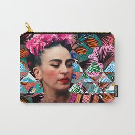 Flowery Frida Carry-All Pouch