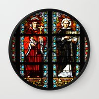 stained glass Wall Clocks featuring Stained glass by Marieken