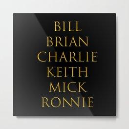 Bandmates XIV (Stone) Metal Print