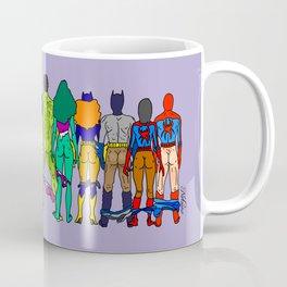 Superhero Butts - Power Couple on Violet Coffee Mug