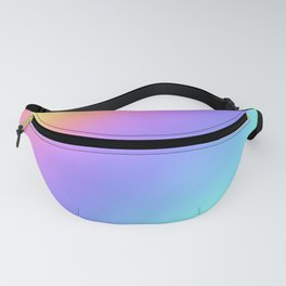 Holographic Foil Multi Colored Pattern Colorful Gradient Abstract Rainbow Fanny Pack