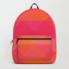 Peachy Triangles Backpack