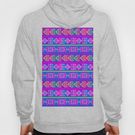 Colorful Mexican Aztec geometric pattern Hoody
