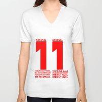 arsenal V-neck T-shirts featuring Mesut Ozil Chant by Maxvtis