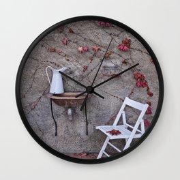 Scene in the backyard Wall Clock