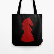 Red Chess Piece - Knight Tote Bag