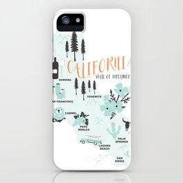 California Map iPhone Case