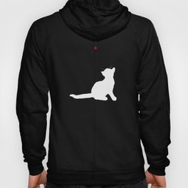 Cat and Laser Cute Minimalistic Animal Portrait Hoody
