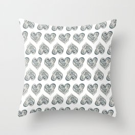 Tearful Heart Throw Pillow