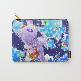 'You Cracked the Egg' Series - Easter Angelic Bunny with Premium Background Carry-All Pouch