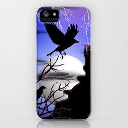 Raven's Haunted Castle iPhone Case