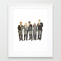 how i met your mother Framed Art Prints featuring How I Met Your Mother by Evelyn Gonzalez