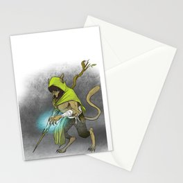 Wolf Mage Stationery Cards