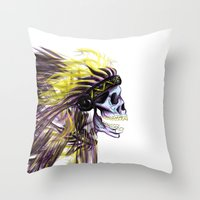 native american Throw Pillows featuring Native by @Subliminal_society