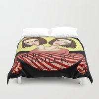 ahs Duvet Covers featuring AHS Twins by Raygor