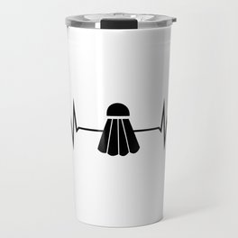 Badminton Heartbeat Travel Mug