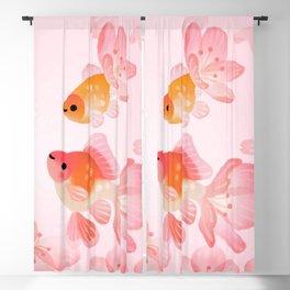 Cherry blossom goldfish Blackout Curtain