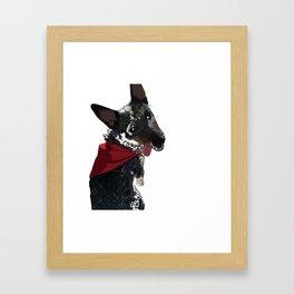 Adorable Dog Wrigley Framed Art Print