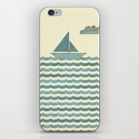 sailboat iPhone & iPod Skins featuring SailBoat by Jeremy Lobdell