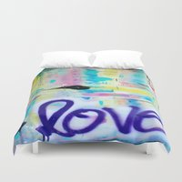 writing Duvet Covers featuring Writing on the Wall by kathleentennant