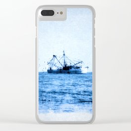 Blue Dream Clear iPhone Case