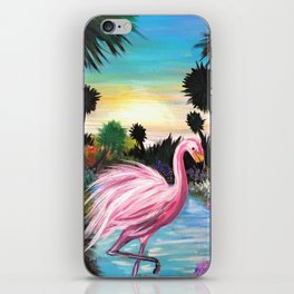 Flamingos Paradise iPhone Skin