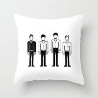 joy division Throw Pillows featuring Joy Division by Band Land