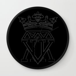 King Crown (WHITE) Wall Clock