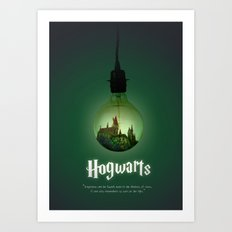 The school of Witchcraft and Wizardry Art Print