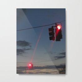 Dancing Traffic Lights Metal Print