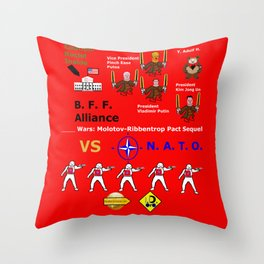 S--- wars Molotov-Ribbentrop Sequel Throw Pillow
