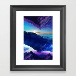 Since the moment I left Purple Framed Art Print