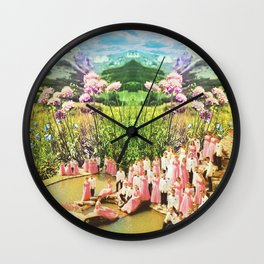 Pink of love  Wall Clock