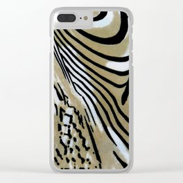 Tiger Stripe Clear iPhone Case