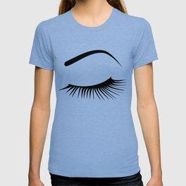 Closed Eyelashes Left Eye T-shirt